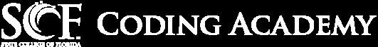 SCF Coding Academy logo white horizontal